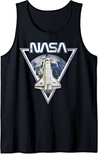 NASA Triangle Earth Logo Shuttle Flight Débardeur