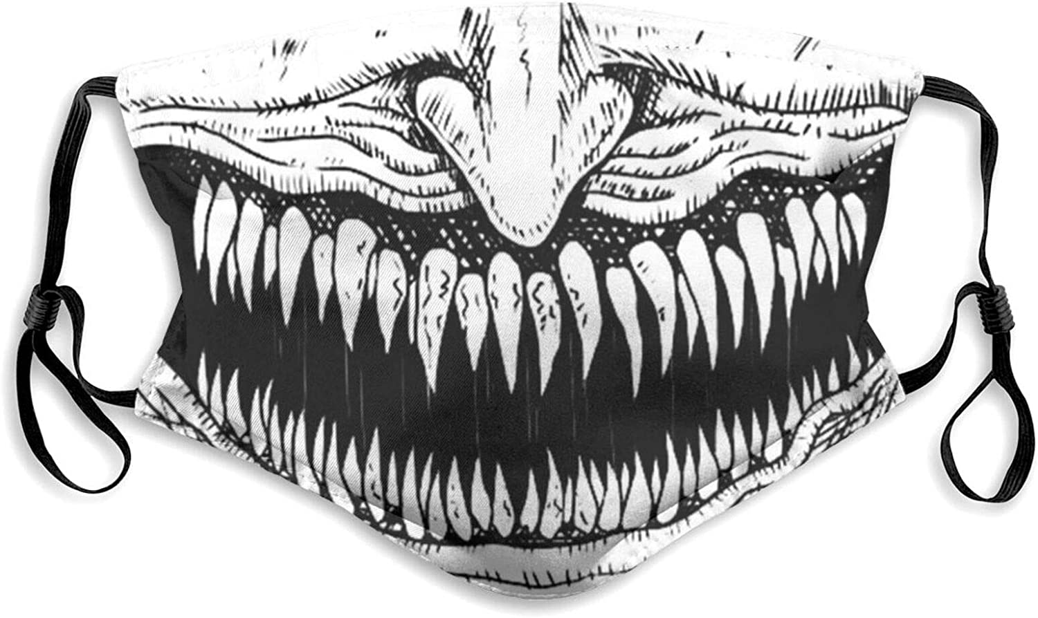 Aagsg Junji Ito Mouth Dust Face Mask with Filter Washable Windproof Bandanas Balaclava Safety Mouth Cover for Men Women