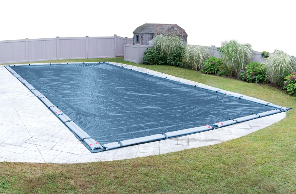 Pool Mate Heavy-Duty Blue Winter Pool Cover