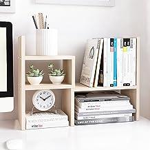Jerry & Maggie - Desktop Organizer Office Storage Rack Adjustable Wood Display Shelf | Birthday Gifts - Toy - Home Decor |...