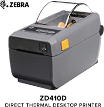 Zebra - ZD410 Wireless Direct Thermal Desktop Printer for Labels, Receipts, Barcodes, Tags, and Wrist Bands - Print Width of 2 in - USB Connectivity