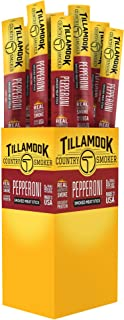 Tillamook Country Smoker All Natural, Real Hardwood Smoked Snack Stick, Pepperoni 1.44-oz (Pack of 24)
