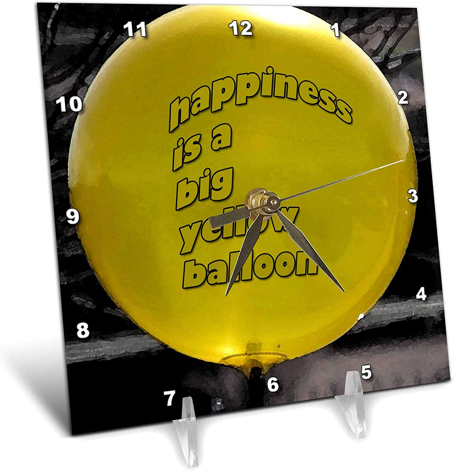3dRose Jos trust Fauxtographee- Yellow Balloon - OFFicial Big is Happiness a Ye
