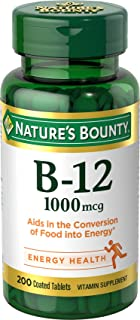 Nature`s Bounty Vitamin B-12 1000 Mcg, Supports Energy Metabolism 200 Coated Tablets