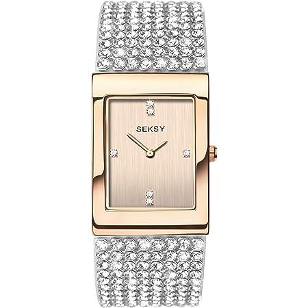 SEKONDA Womens Analogue Classic Quartz Watch with Brass Strap 2376.37