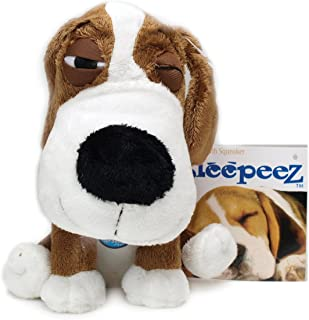 Boss Pet Plush Cuddly Sleepeez Brown Beagle with Squeaker Dog Toy