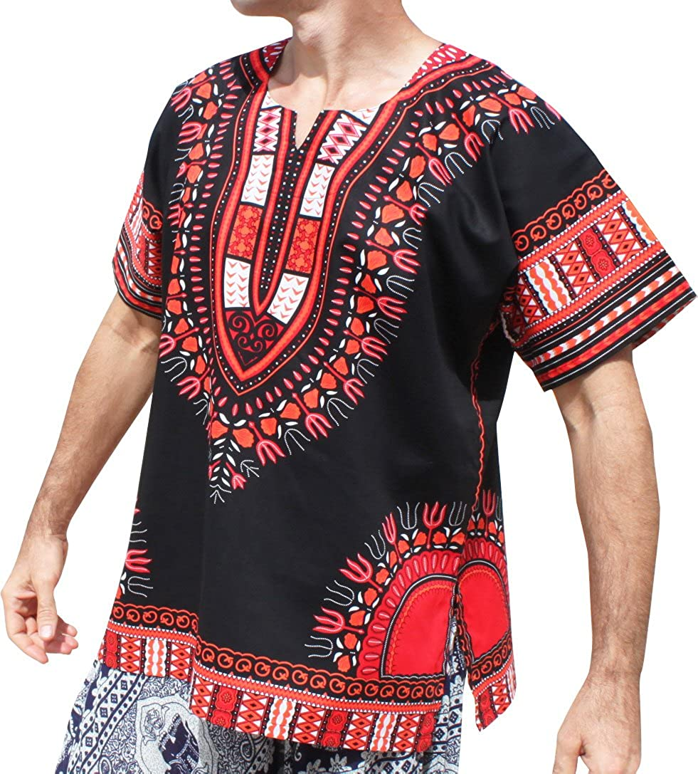 RaanPahMuang Brand Unisex Bright Black Shi Cotton Super popular Fixed price for sale specialty store Dashiki Africa