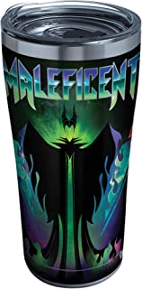 Tervis 1332555 Disney Villains - Maleficent Stainless Steel Insulated Tumbler with Clear and Black Hammer Lid, 20oz, Silver