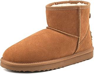 AUSLAND Men's Classic Water-Resistant Short Snow Boots 5654