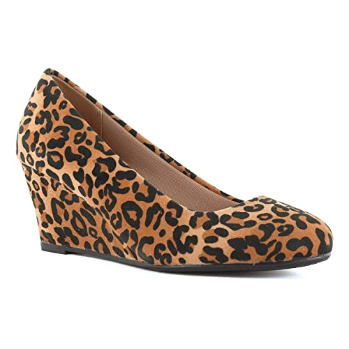 32d5971f5950 Guilty Shoes Guilty Heart   Classic Office Comfortable Wedge   Soft Mid Low  Heel Round Toe