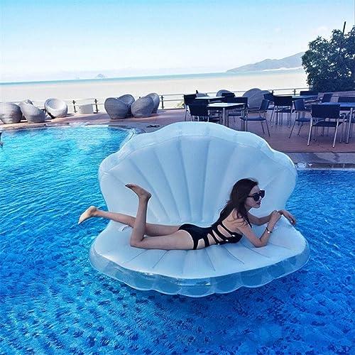 Aufblasbares Pool Schwimmbad Riesige Kamm-Muschel-sich Hin- Und Herbewegendes Bett-Sommer-Spielzeug-Pool-Party-Spielzeug Mit Schnellen Ventilen Für Erwachsene Und Kinder