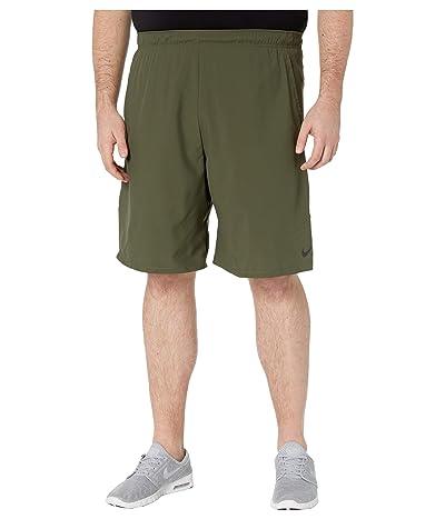 Nike Big Tall Flex Shorts Woven 2.0 (Cargo Khaki/Black) Men