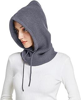 Facecozy Women Balaclava Winter Autumn Knit Beanie Hats for Women Warm Outdoor Ski Cap