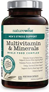 NatureWise Multivitamin for Men's Daily Stress Support with Sensoril Ashwagandha and 22 Essential Nutrients (Packaging May...
