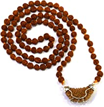 Divya Shakti Brown Certified Ek Mukhi/One Face Rudraksha Mala Pendant for Men and Women (25 mm)