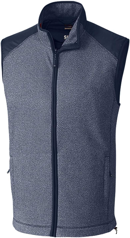 Cutter Buck Men's Cedar Park Full Navy Vest Max 50% OFF latest Liberty Heath Zip