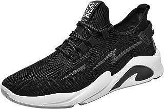 FNKDOR Blitz Muster Mode Sneaker Herren Mesh Atmungsaktiv Turnschuhe Leicht Laufschuhe Fitness Sportschuhe