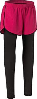 Le Vonfort Womens Athletic Shorts Dri Fit Ankle Long Layer Gym Pants with Drawstring and Pocket