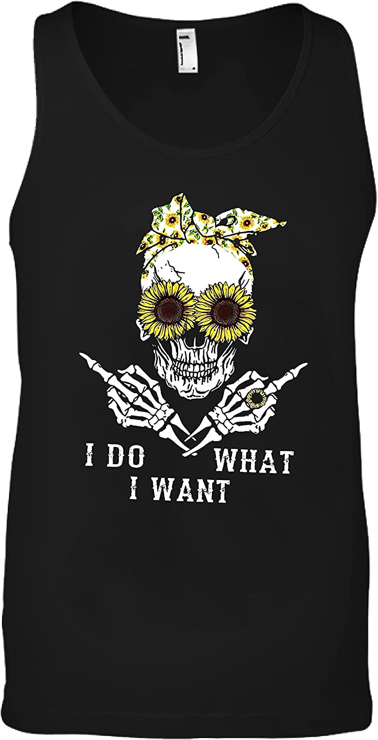I Do What Want Skull P T low-pricing Black Shirt Sunflower Bargain sale