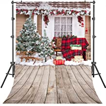 Mehofoto X-mas Backdrop Christmas Tree and Snow Outdoor Landscape Background 5x7ft Children Kids Photography Photoshoot Backdrops for Studio Props Buffalo Plaid Backgrounds