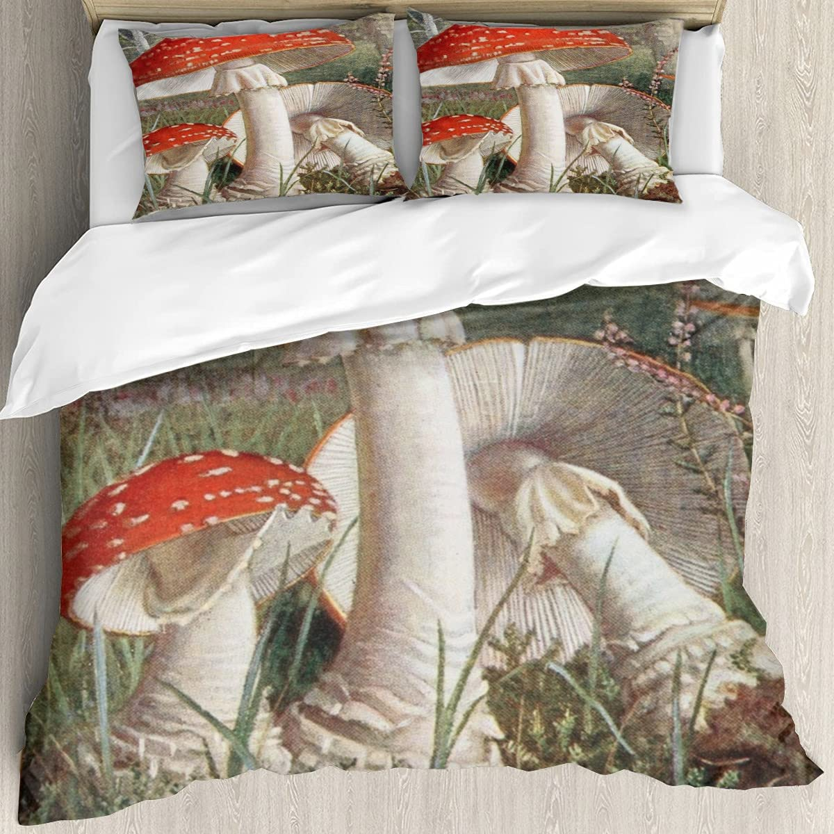Pilze jahrhundert 3D Printing Cover Detroit Mall Twin and Bedding At the price Br Soft Set