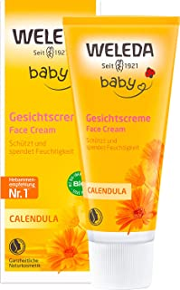 WELEDA Calendula Gesichtscreme, Naturkosmetik Feuchtigkeitscreme zur Pflege von trockener und empfindlicher Haut, Schutz vor Austrocknen und Unreinheiten 1 x 50 ml