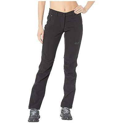 Jack Wolfskin Zenon Softshell Pants (Black) Women