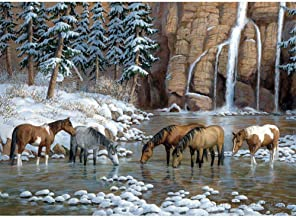 Paisaje nevado Pintura Pinturas de Pintura al óleo para Adultosniños Pintura -16x20 inch (40x50cm)Sin marco