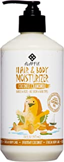 Alaffia - Everyday Coconut Hair and Body Moisturizer, Gentle for Babies and Up, Moisturizing Support for Soft, Smooth Hair and Skin with Yarrow and Chamomile, Fair Trade, Coconut Chamomile, 16 Ounces