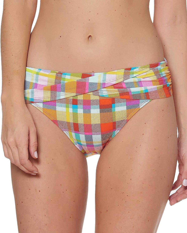 Bleu Rod Beattie Mad For Plaid Banded Hipster Bikini Bottom
