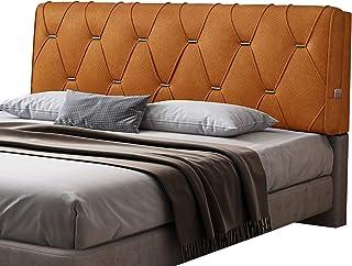 JINGMAI Con Instalación De Cabecero, Cojín De Cabecera Cama Material De PU, Cojines Tapizado Leer Esponja De Alta Resiliencia, Cuña Cama Respaldo por Descansar (Color : Orange, Size : 90x60x8cm)