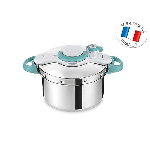 Seb P4624816 ClipsoMinut' Easy Autocuiseur Inox Tous feux dont induction et Livres 100 recettes Acier Inoxydable Bleu 7,5 L