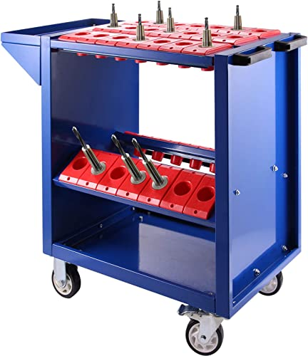 wholesale Mophorn Tool Cart 40 Taper Tool Holder CNC online Tool Cart discount 35 Capacity CAT40 BT40 Service Carts with Wheels Heavy Duty (BT40 35 Capacity) sale