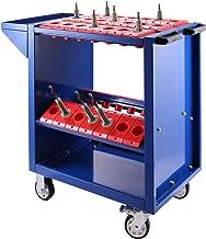VEVOR CNC Alet Arabası BT40, CNC Alet Taşıyıcı 86,36 x 43,18 x 78,74 cm, Çelik Atölye Arabası ve 2 Muhafaza Kasesi, Mavi A...