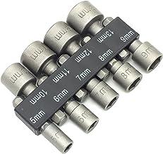 "PANOVO 9pcs Power Hand Driver Drill Tools Set 5-13mm Metric Socket Wrench Set Power Nuts Driver Socket 1/4"" Hex Shank Dril..."