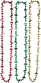 Company - Fiesta Bead Necklaces Red, Green & Yellow
