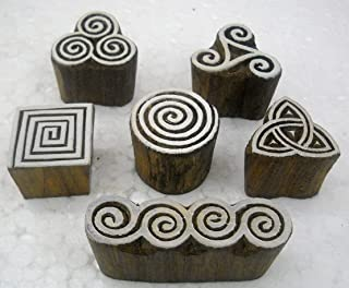 Wholesale Pack of Elegant Designs Wooden Block Stamps/ Tattoo/ Indian Textile Printing Blocks