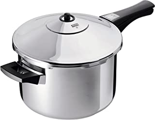 Kuhn Rikon Duromatic Stainless-Steel Saucepan Pressure Cooker - 3.7-Qt