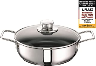 Schulte-Ufer Frying Pan Green Life, incl. Lid, Baking Pan, Stainless Steel 18/10, 24 cm, 6873-983-24 i