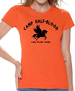 Awkwardstyles Women's Camp Half-Blood T-Shirt Long Island Greek Shirt + Bookmark