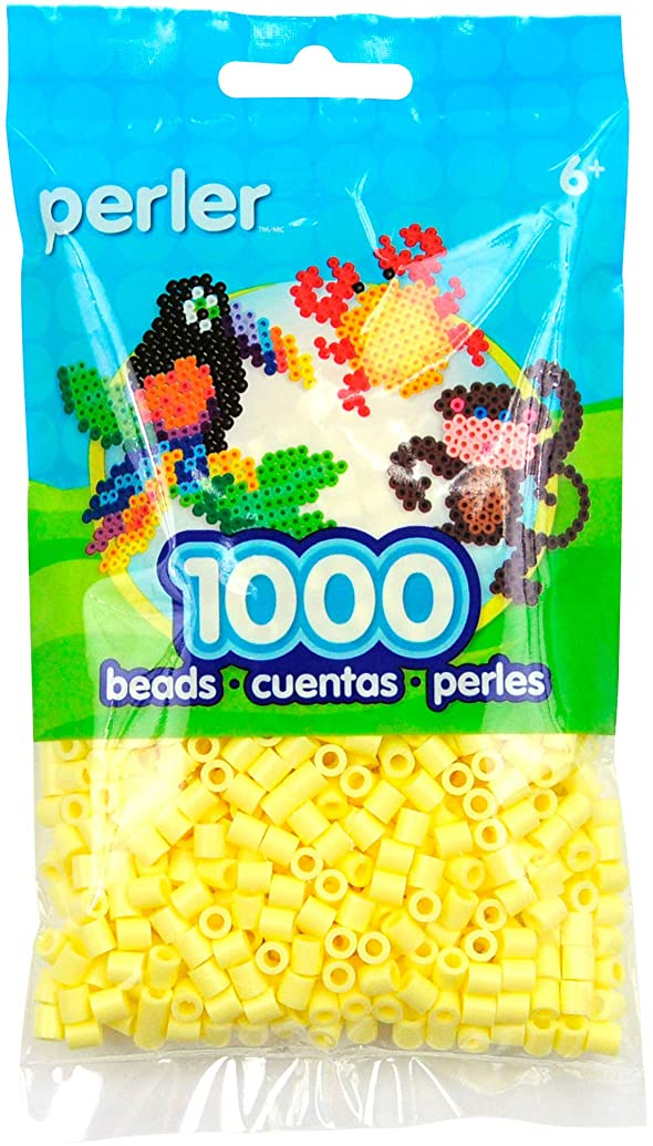 Perler Beads Fuse Beads for Crafts, 3000pcs, Pastel Yellow