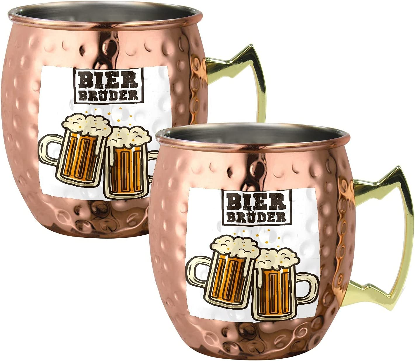 Beer Pattern Moscow Mule latest Copper Steel Mugs Cockta 5% OFF Stainless