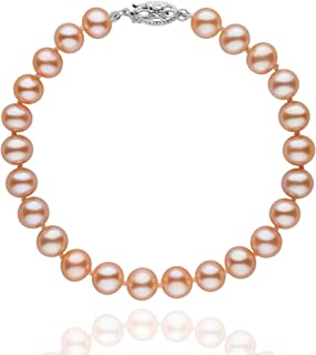 6.5-7.0 mm Pink to Peach Freshwater AA+ Cultured Pearl Bracelet