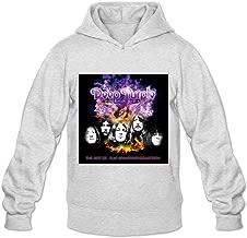 Soulya Men's Phoenix Rising Deep Purple Art Hoodies Sweatshirt Size US White