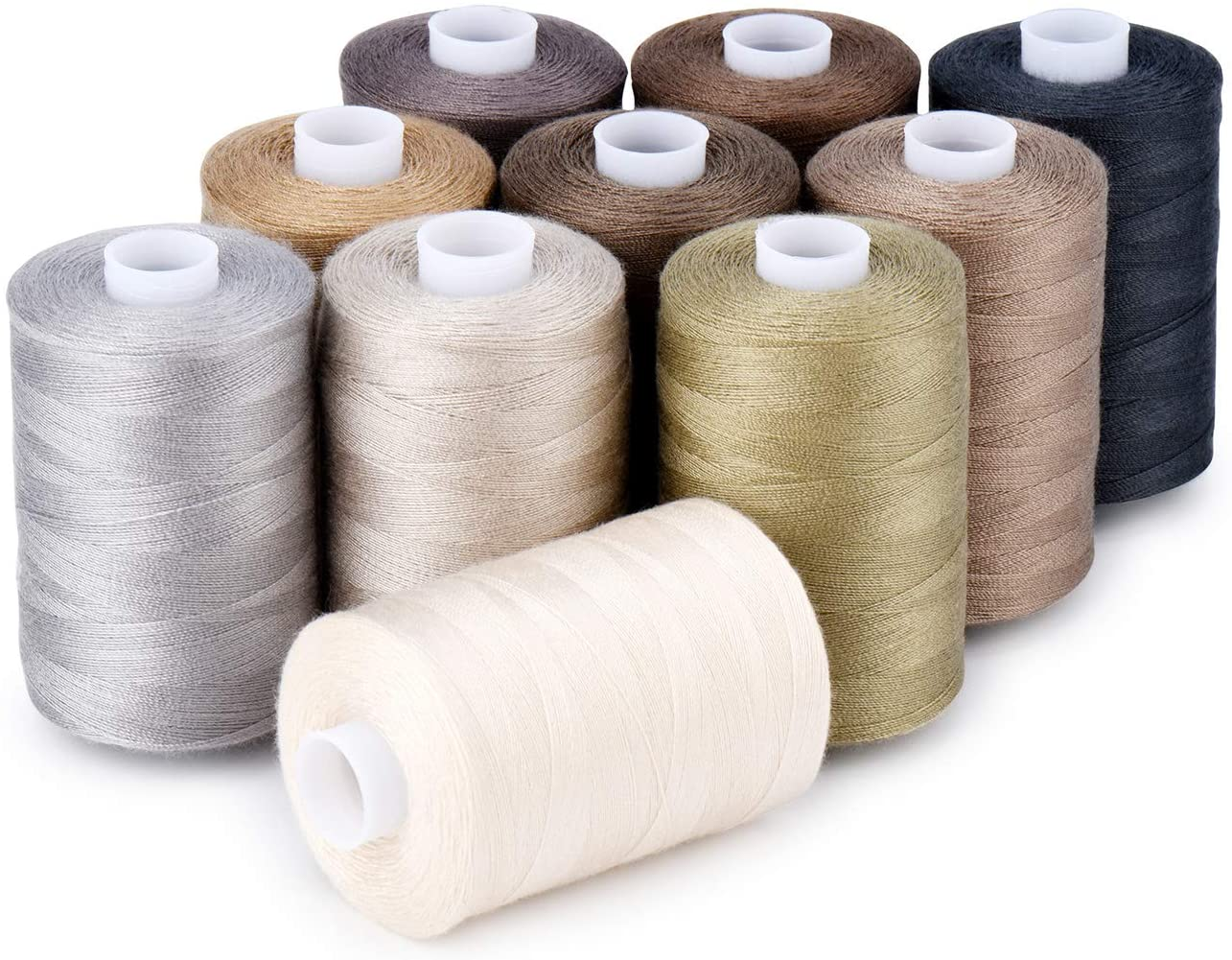 Sewing Kansas City Mall Max 57% OFF Thread 12 Colors Set 40S Machine 2 Quilting Ha for