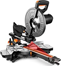 TACKLIFE Miter Saw, 10-Inch Sliding Miter Saw with Double Speed (4500 RPM & 3200..