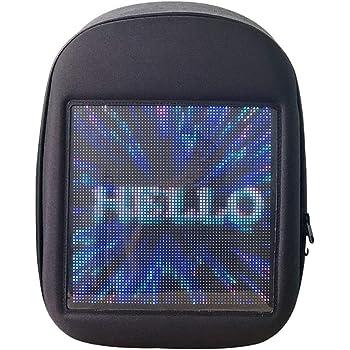 Novelty Smart LED Backpack Fashion Black Customizable Laptop Backpack Creative Christmas Gift School Bag