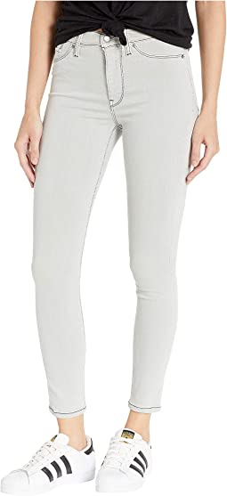 Barbara High-Rise Ankle Skinny Jeans in Sea Foam
