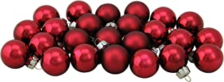 Northlight WY00697 Burgundy Red Glass Ball Christmas Ornament Set, 1