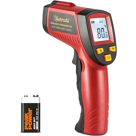 Astroai Digital Laser Infrarot Thermometer Berührungslos Temperaturmessgerät Ir Pyrometer Lcd Beleuchtung Temperaturmesser 50 C Bis 550 C Rot Und Schwarz Baumarkt